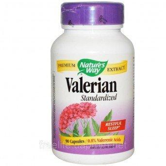Витамины Valerian Standardized Стандартизированный экстракт валерианы Nature's Way