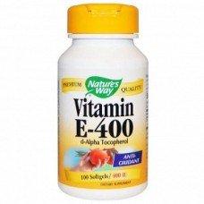 Витамины Е-400 альфа-токоферол, Nature's Way