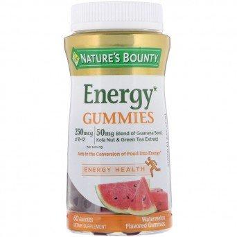 Энергетическая жевательная пластинка со вкусом арбуза Nature's Bounty №60
