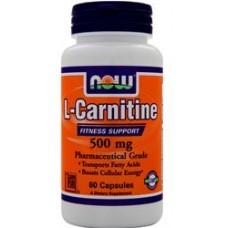 Касулы L-карнитин NOW Foods L-Carnitine