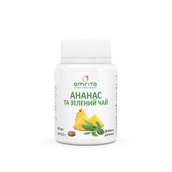 Капсулы для похудения Ананас и зеленый чай №60