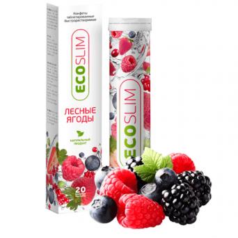 """Таблетки для похудения растворимые """"Eco Slim Лесные ягоды"""""""